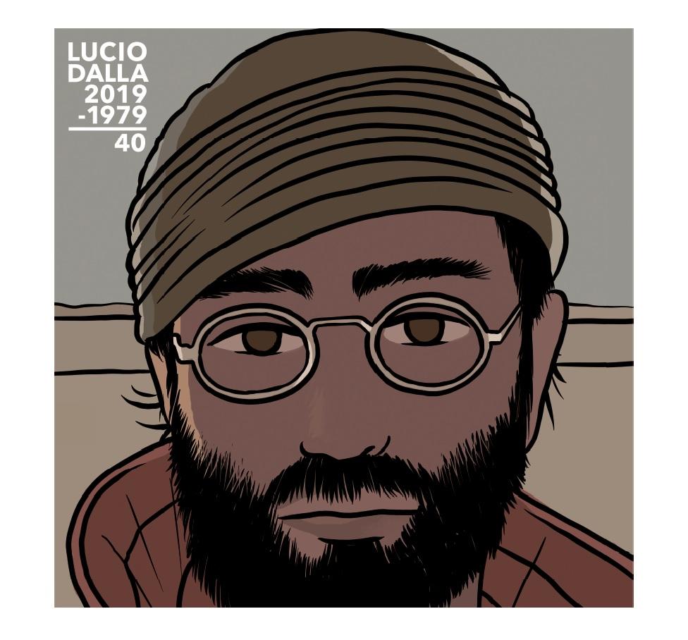 """LUCIO DALLA - Copertina """"Legacy Edition"""". Illustrazione Alessandro Baronciani"""